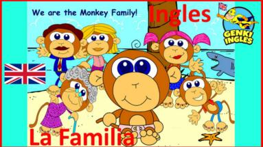 La familia mono - Inglés para niños